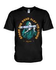 Spare The Dead Slayy The Living Shirt V-Neck T-Shirt thumbnail