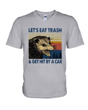 Lets Eat Trash And Get Hit By A Car Shirt V-Neck T-Shirt thumbnail
