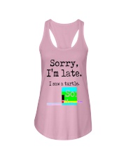Sorry I'm Late I Saw A Turtle Shirt Ladies Flowy Tank tile