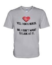 Yes I Am A Nurse No I Don't Want To Look At Shirt V-Neck T-Shirt thumbnail