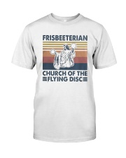 Vintage Frisbeeterian Church Of The Flying Shirt Classic T-Shirt front
