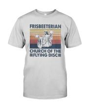 Vintage Frisbeeterian Church Of The Flying Shirt Premium Fit Mens Tee thumbnail