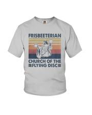 Vintage Frisbeeterian Church Of The Flying Shirt Youth T-Shirt thumbnail