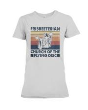 Vintage Frisbeeterian Church Of The Flying Shirt Premium Fit Ladies Tee thumbnail