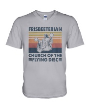 Vintage Frisbeeterian Church Of The Flying Shirt V-Neck T-Shirt thumbnail