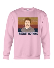 Vintage Ron Swanson I Regret Nothing Shirt Crewneck Sweatshirt thumbnail