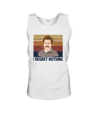 Vintage Ron Swanson I Regret Nothing Shirt Unisex Tank thumbnail