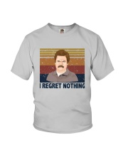 Vintage Ron Swanson I Regret Nothing Shirt Youth T-Shirt thumbnail
