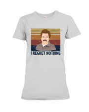 Vintage Ron Swanson I Regret Nothing Shirt Premium Fit Ladies Tee thumbnail
