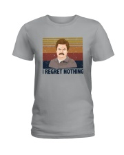 Vintage Ron Swanson I Regret Nothing Shirt Ladies T-Shirt thumbnail