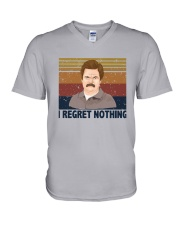 Vintage Ron Swanson I Regret Nothing Shirt V-Neck T-Shirt thumbnail