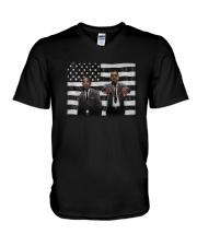 Leader American Flag Shirt V-Neck T-Shirt thumbnail