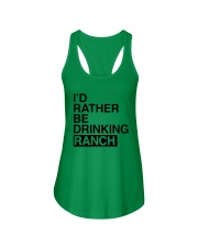 I'd Rather Be Drinking Ranch Shirt Ladies Flowy Tank thumbnail