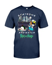 Stay Home And Watch Rick And Morty Shirt Classic T-Shirt tile