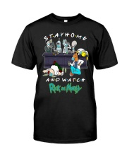 Stay Home And Watch Rick And Morty Shirt Premium Fit Mens Tee thumbnail