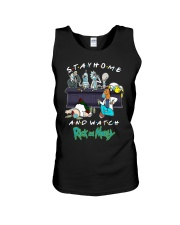 Stay Home And Watch Rick And Morty Shirt Unisex Tank thumbnail