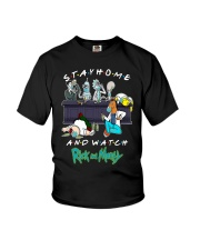 Stay Home And Watch Rick And Morty Shirt Youth T-Shirt thumbnail