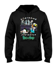 Stay Home And Watch Rick And Morty Shirt Hooded Sweatshirt thumbnail