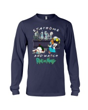 Stay Home And Watch Rick And Morty Shirt Long Sleeve Tee thumbnail