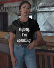 Flyboy I'm Speaking Shirt Classic T-Shirt apparel-classic-tshirt-lifestyle-05