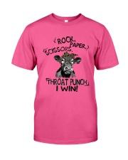 Heifer Rock Scissor Paper Throat Punch I Win Shirt Classic T-Shirt thumbnail