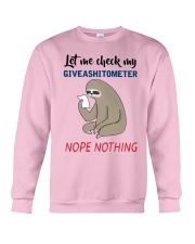 Sloth Let Me Check Givashitometer Nothing Shirt Crewneck Sweatshirt thumbnail