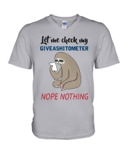 Sloth Let Me Check Givashitometer Nothing Shirt V-Neck T-Shirt thumbnail