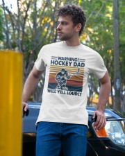 Vintage Warning Hockey Dad Will Yell Loudly Shirt Classic T-Shirt apparel-classic-tshirt-lifestyle-front-44