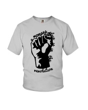 Hand A Woman's Place Is In The Revolution Shirt Youth T-Shirt thumbnail