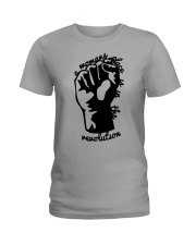 Hand A Woman's Place Is In The Revolution Shirt Ladies T-Shirt thumbnail