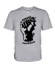 Hand A Woman's Place Is In The Revolution Shirt V-Neck T-Shirt thumbnail