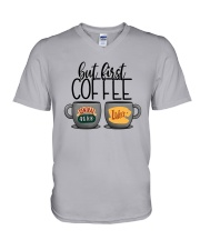 Central Perk Luke's But First Coffee Shirt V-Neck T-Shirt thumbnail