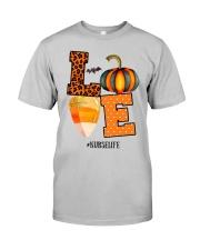 Halloween Pumpkin Love Nurselife Shirt Classic T-Shirt tile