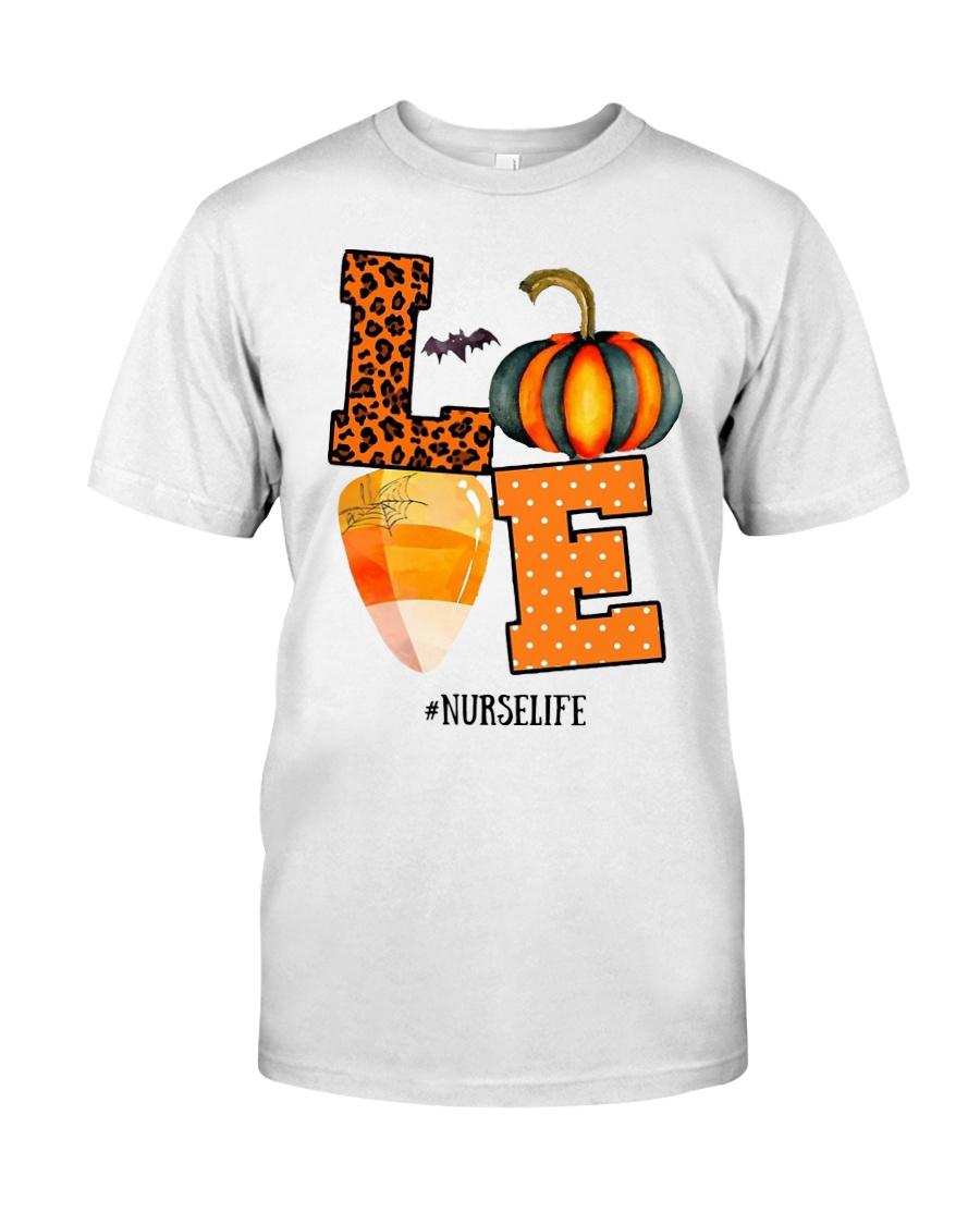 Halloween Pumpkin Love Nurselife Shirt Classic T-Shirt
