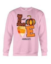 Halloween Pumpkin Love Nurselife Shirt Crewneck Sweatshirt thumbnail