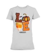 Halloween Pumpkin Love Nurselife Shirt Premium Fit Ladies Tee thumbnail