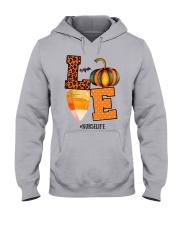 Halloween Pumpkin Love Nurselife Shirt Hooded Sweatshirt thumbnail