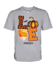 Halloween Pumpkin Love Nurselife Shirt V-Neck T-Shirt thumbnail