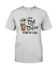 Im A Cat And Coffee Kind Of Girl Shirt Premium Fit Mens Tee thumbnail