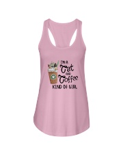 Im A Cat And Coffee Kind Of Girl Shirt Ladies Flowy Tank thumbnail