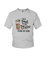 Im A Cat And Coffee Kind Of Girl Shirt Youth T-Shirt thumbnail