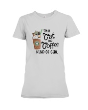 Im A Cat And Coffee Kind Of Girl Shirt Premium Fit Ladies Tee thumbnail
