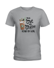 Im A Cat And Coffee Kind Of Girl Shirt Ladies T-Shirt thumbnail