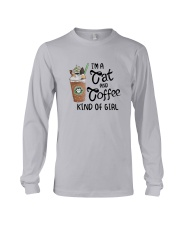 Im A Cat And Coffee Kind Of Girl Shirt Long Sleeve Tee thumbnail