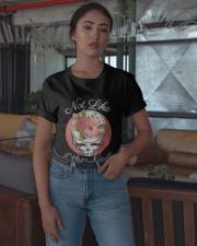 Flower Skull Not Like Other Girls Shirt Classic T-Shirt apparel-classic-tshirt-lifestyle-05