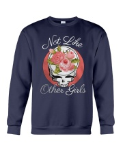 Flower Skull Not Like Other Girls Shirt Crewneck Sweatshirt thumbnail