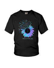 Sunflower Choose To Keep Going Shirt Youth T-Shirt thumbnail