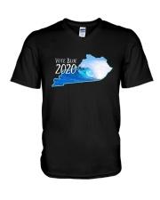 Kentucky Wave Vote Blue 2020 Shirt V-Neck T-Shirt thumbnail