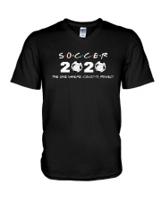 Soccer 2020 The One Where Covid 19 Ruined Shirt V-Neck T-Shirt thumbnail