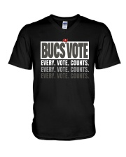 Bucs Vote Every Vote Counts Shirt V-Neck T-Shirt thumbnail